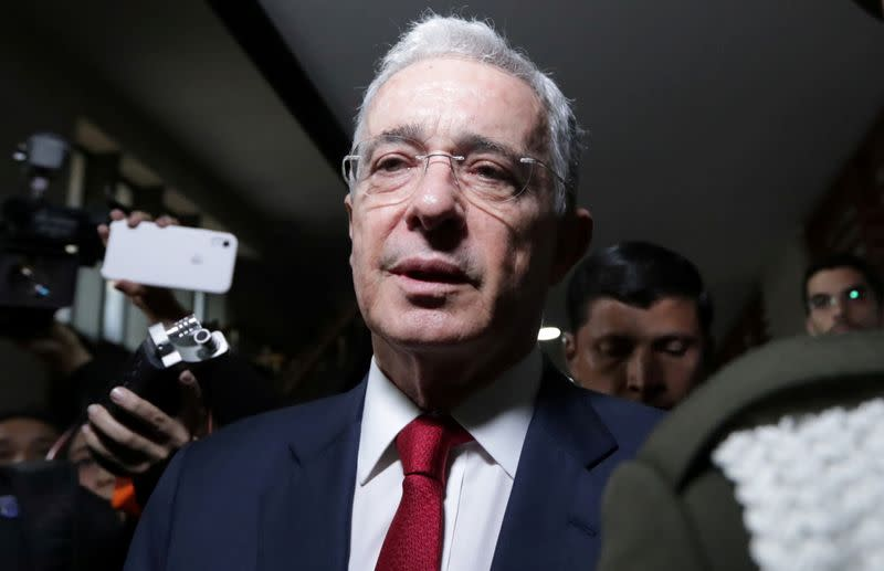 Judge lifts house arrest order against former Colombian President Uribe