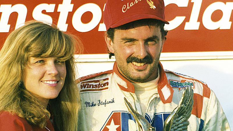 Mike Stefanik, pictured here at the Winston Classic NASCAR Modified Tour event in 1991.