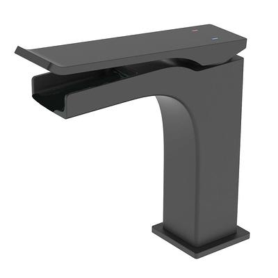 Boyel Living Single Hole Single Handle Bathroom Faucet w// Deck Mount Matte Black