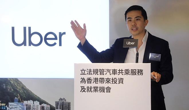 Estyn Chung, general manager of Uber Hong Kong, says the move will create jobs, bring top-class talent and help create an innovation and engineering hub in the city. Photo: Dickson Lee