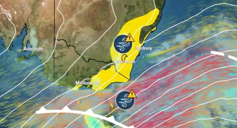 The strong winds bring big waves and the threat of coastal erosion. Source: BOM