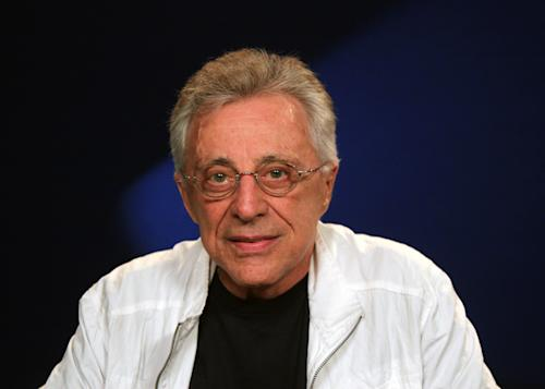 "This Aug. 28, 2012 photo shows Frankie Valli, of Frankie Valli and the Four Seasons in New York. The 78-year old Valli has been belting iconic hits like ""Can't Take My Eyes Off You,"" and ""Sherry"" with his trademark falsetto for years. He will be appearing for seven nights at the Broadway Theater with The Four Seasons beginning Oct. 19. (AP Photo/John Carucci)"