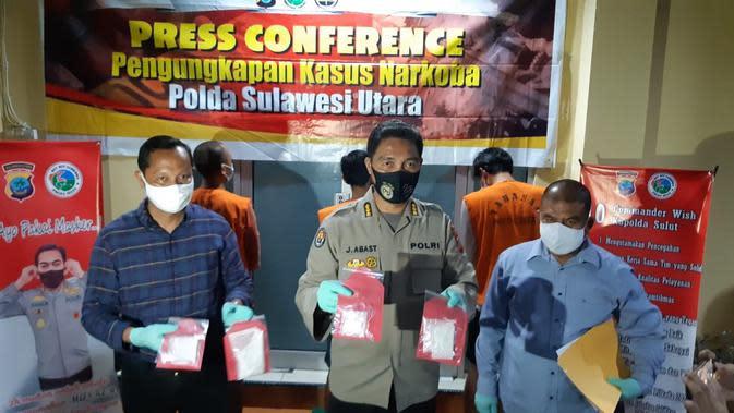 Cerita Polisi Sulut Gulung Jaringan Pengedar Narkotika Lintas Provinsi di Manado