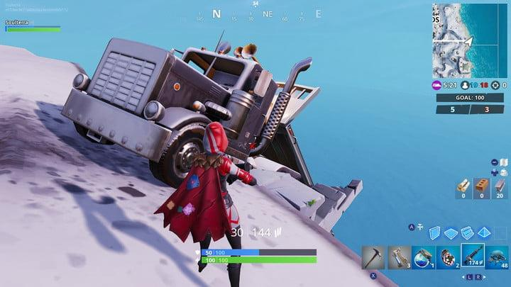 fortnite search between a mysterious hatch fortnite week 8 challenges