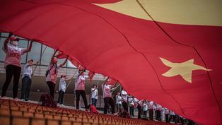 《施政報告》林鄭:立法會稍後會對《區旗和區徽條例》作修訂