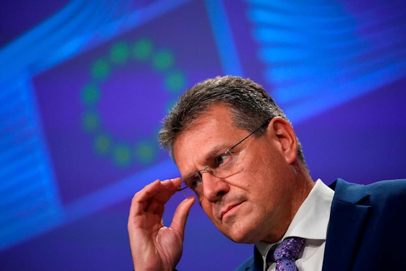 Maros Sefcovic said the EU 'will not be shy' in taking action (AP)