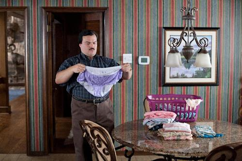 "In this film publicity image released by Millennium Entertainment, Jack Black portrays Bernie Tiede in a scene from ""Bernie."" (AP Photo/Millennium Entertainment)"