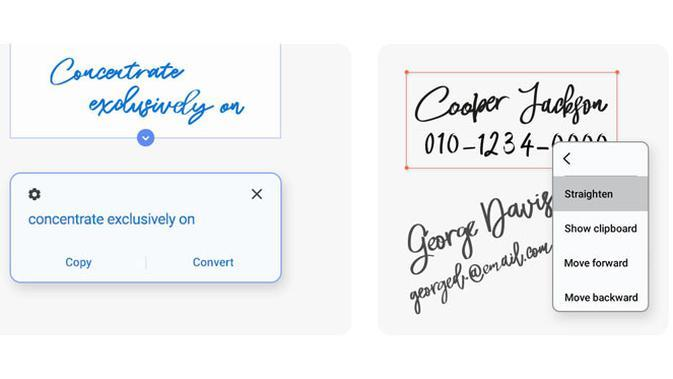 Fitur Handwriting to Text