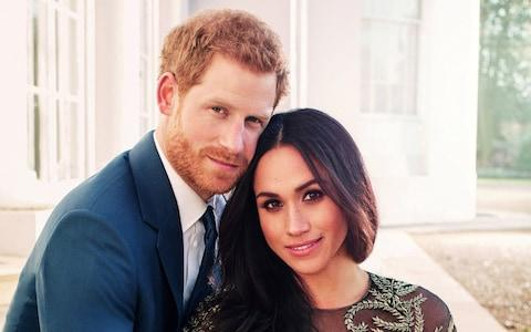 An official engagement photo released by Kensington Palace of Prince Harry and Meghan Markle - Credit: Reuters
