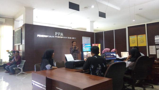 SPKT Polrestabes Palembang Sumsel (Liputan6.com / Nefri Inge)