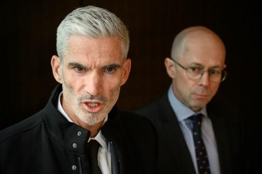 Craig Foster (L) travelled to Zurich to rally support from FIFA for Hakeem al-Araibi
