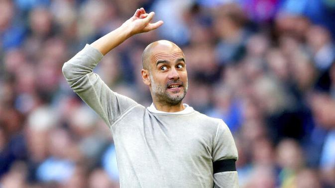 Pelatih Manchester City, Pep Guardiola. (AP/Nick Potts)