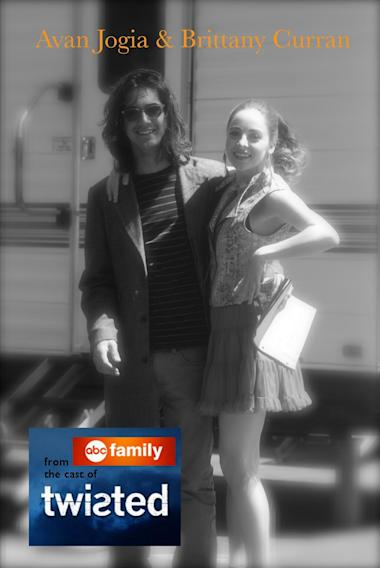 Me and Avan hanging out during shooting of #Twisted  And yes, I get to wear that cute outfit in an upcoming episode!