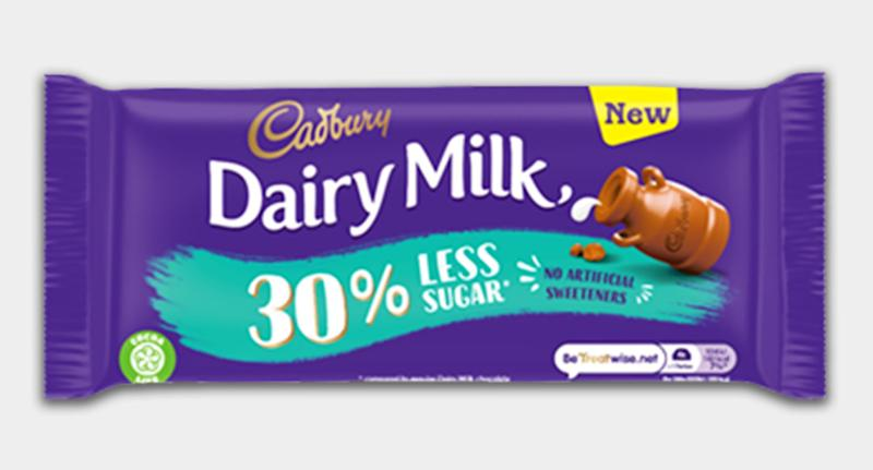 You can now buy a Dairy Milk bar with almost a third less sugar. [Photo: Cadbury]
