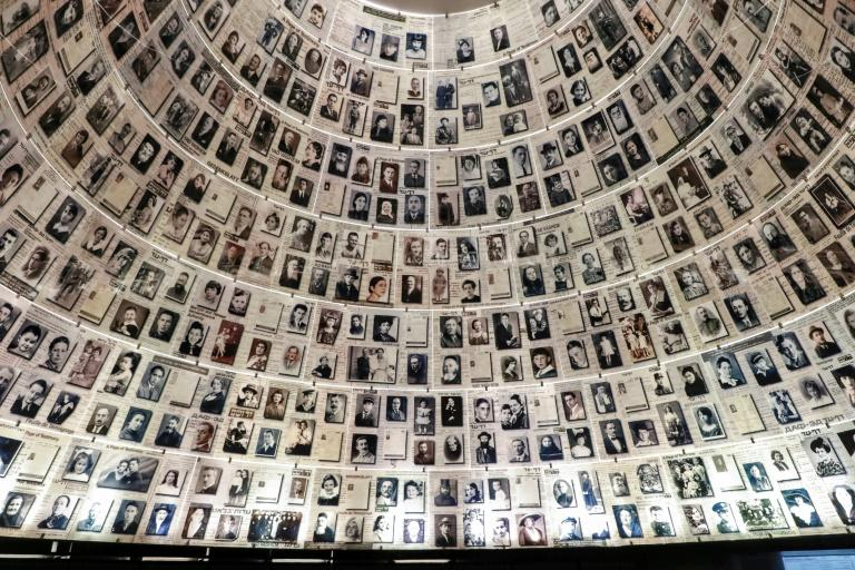 The ceiling at the Hall of Names at the Yad Vashem Holocaust Memorial museum in Jerusalem