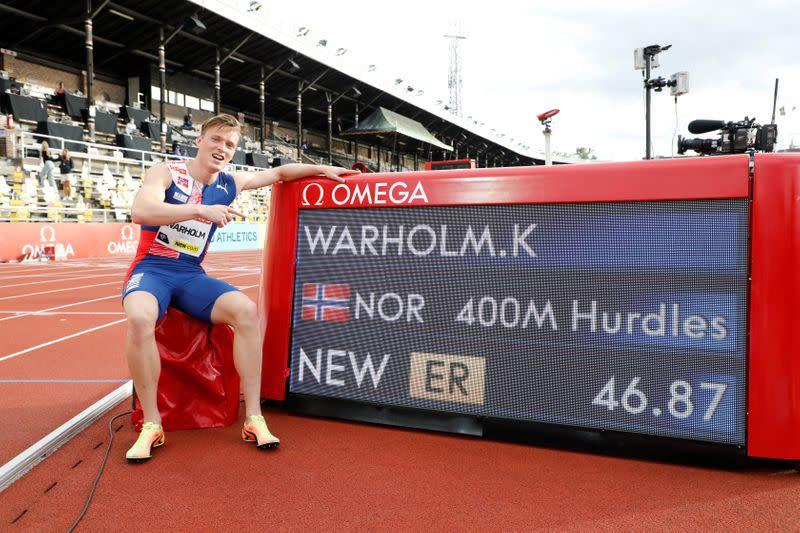 Warholm sets new European record at Stockholm Diamond League