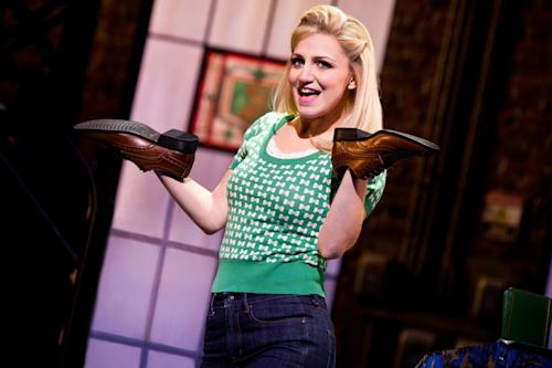 "This theater image released by The O+M Company shows Annaleigh Ashford during a performance of ""Kinky Boots."" (AP Photo/The O+M Company, Matthew Murphy)"