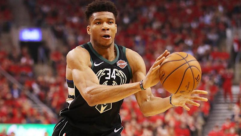 Giannis Antetokounmpo in action. (Photo by Gregory Shamus/Getty Images)