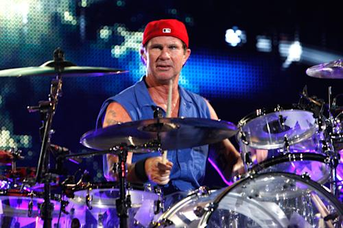 Chad Smith of the Red Hot Chili Peppers performs in Rotterdam, Netherlands.