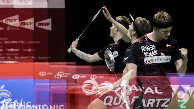 Dominasi Tinggi Antonsen Hasilkan Tiket Semifinal Denmark Open