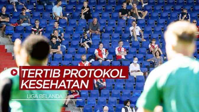 VIDEO: Melihat Penonton Liga Belanda yang Tertib Protokol Kesehatan Saat Datang ke Stadion