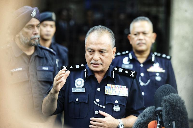 Negri Sembilan Deputy Police Chief Senior Assistant Commissioner Che Zakaria Othman briefs reporters during a media conference at the Tuanku Ja'afar Hospital in Seremban August 14, 2019. — Picture by Shafwan Zaidon