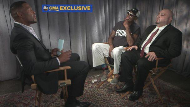 PHOTO: Former professional basketball player Dennis Rodman spoke out in an exclusive interview with 'GMA' co-anchor Michael Strahan about his recent trip to North Korea. (ABC News)