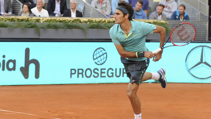 Roger Federer glad to make clay return after three years