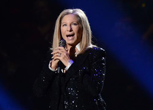 "FILE - This Oct. 11, 2012 file photo shows singer Barbra Streisand performing at the Barclays Center in the Brooklyn borough of New York. A Barbara Streisand concert, Shakespearean dramas and the return of ""Foyle's War"" to ""Masterpiece Mystery!"" are on the PBS fall schedule. (Photo by Evan Agostini/Invision/AP, file)"
