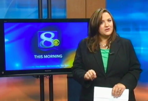 This frame grab provided by WKBT-TV in La Crosse, Wis., shows television anchorwoman Jennifer Livingston Tuesday, Oct. 2, 2012, during her broadcast responding to a viewer who wrote her an email criticizing her weight. Livingston says she thought nothing of the email. But she's angry that some children may not know to do the same when they're criticized, or worse, by bullies. (AP Photo/Courtesy WKBT-TV)