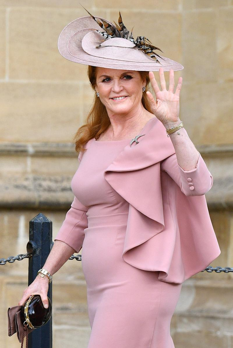 Sarah Ferguson attends royal wedding