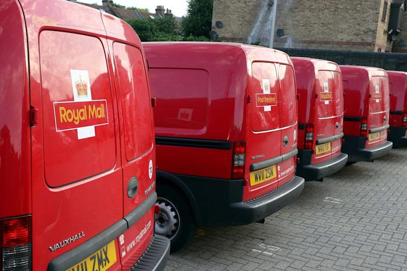 Royal Mail vans are parked in the Leytonstone post office depot in London, Britain early July 6, 2017: REUTERS