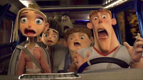 "This film image released by Focus Features shows the animated characters Courtney Babcock, voiced by Anna Kendrick, left, Norman Babcock, voiced by Kodi Smit-McPhee, second left, Neil, voiced by Tucker Albrizzi, second right, and Mitch, voiced by Casey Affleck, right, in a scene from ""ParaNorman."" The character Mitch in the 2012 ""ParaNorman"" was revealed at the end to be gay. The GLAAD advocacy group says that movie was an exception in a year that showed Hollywood's major studios are reluctant to include LGBT characters in important roles in their films. (AP Photo/Focus Features)"