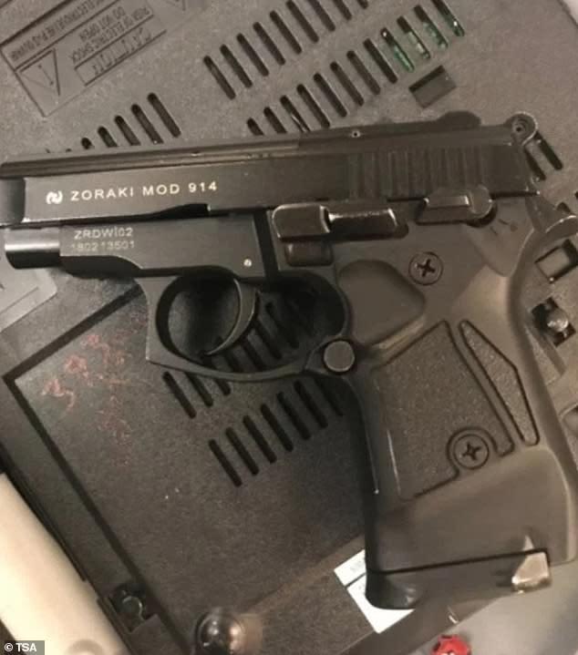 TSA finds handgun concealed inside DVD player in passenger's checked bag