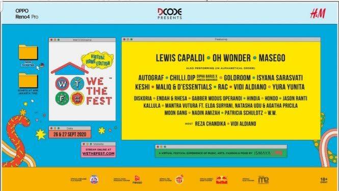 Perdana, We The Fest 2020 Digelar Virtual