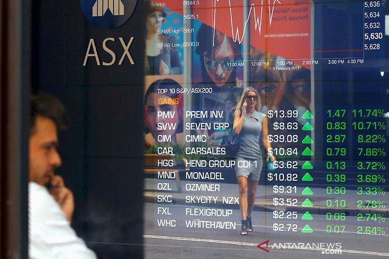 Hapus keuntungan awal, saham Australia ditutup lebih rendah