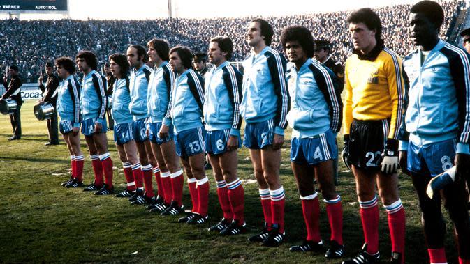 Timnas Prancis melawan Hungaria di Piala Dunia 1978. (AFP)