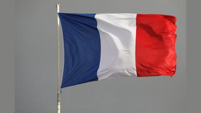 Ilustrasi bendera Prancis (AFP/Ludovic Marin)