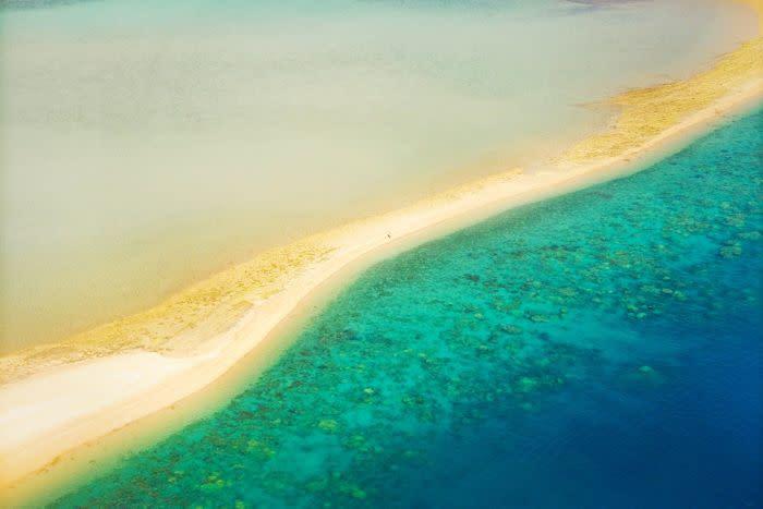 An aerial view of Hayman Island