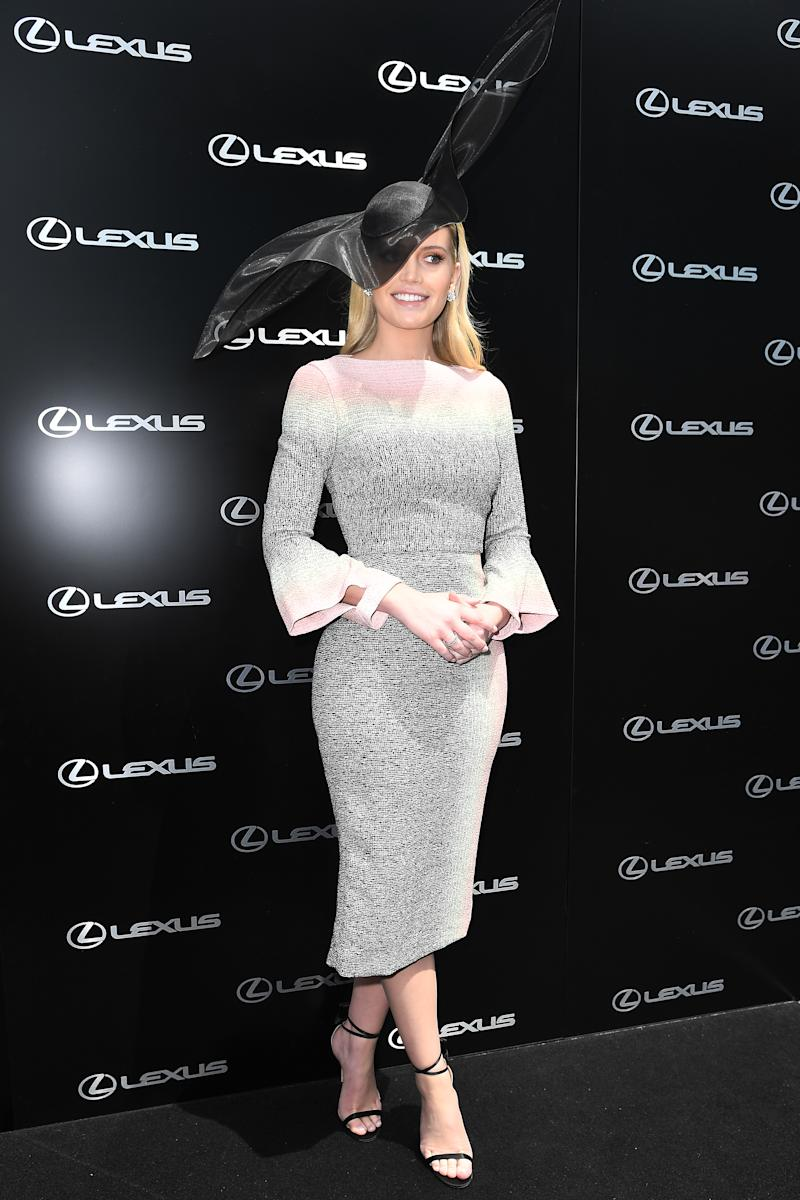 Lady Kitty Spencer attends the Melbourne Cup Day at Flemington Racecourse on November 05, 2019 in Melbourne, Australia.