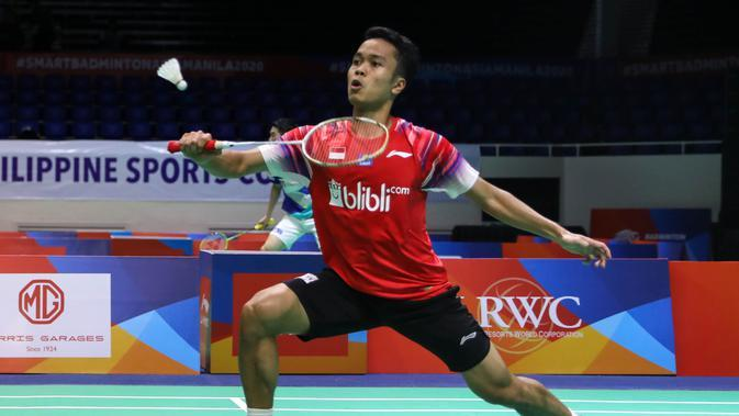 Tunggal putra Indonesia, Anthony Sinisuka Ginting. (PBSI)