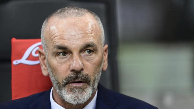 Stefano Pioli yakin Inter menang lawan AC Milan. (AFP / MIGUEL MEDINA)