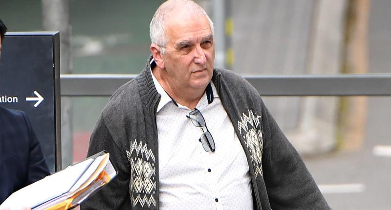 Former Brisbane teacher Peter Matthew Malone arrives at the District Court in Brisbane, Thursday, June 20, 2019.