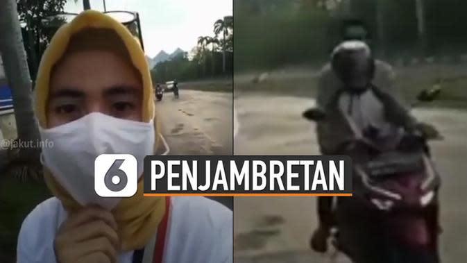 VIDEO: Viral Aksi Penjambretan Handphone Saat Sedang Live Facebook