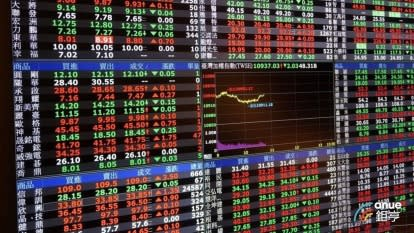 台股盤中-港股重挫拖累+權值股熄火 跌破10500點回測月線