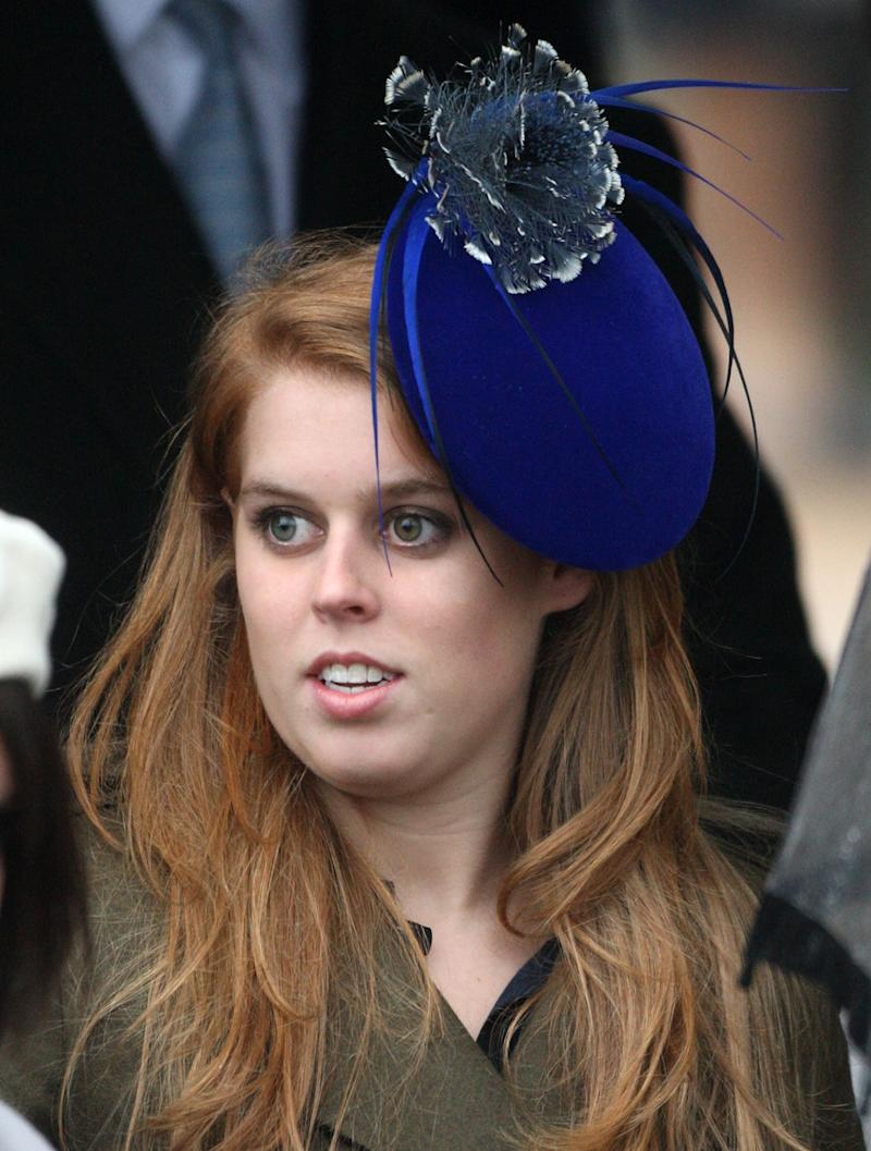 Princess Beatrice Attends Christmas Day Service At Sandringham Church. (Photo by Mark Cuthbert/UK Press via Getty Images)