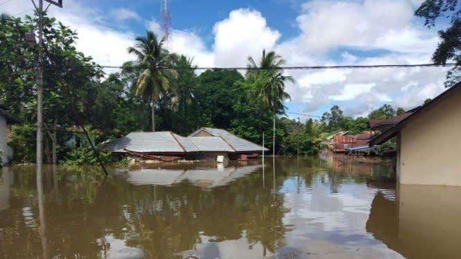 Diterjang Banjir, Warga Sintang Mengungsi ke Hutan