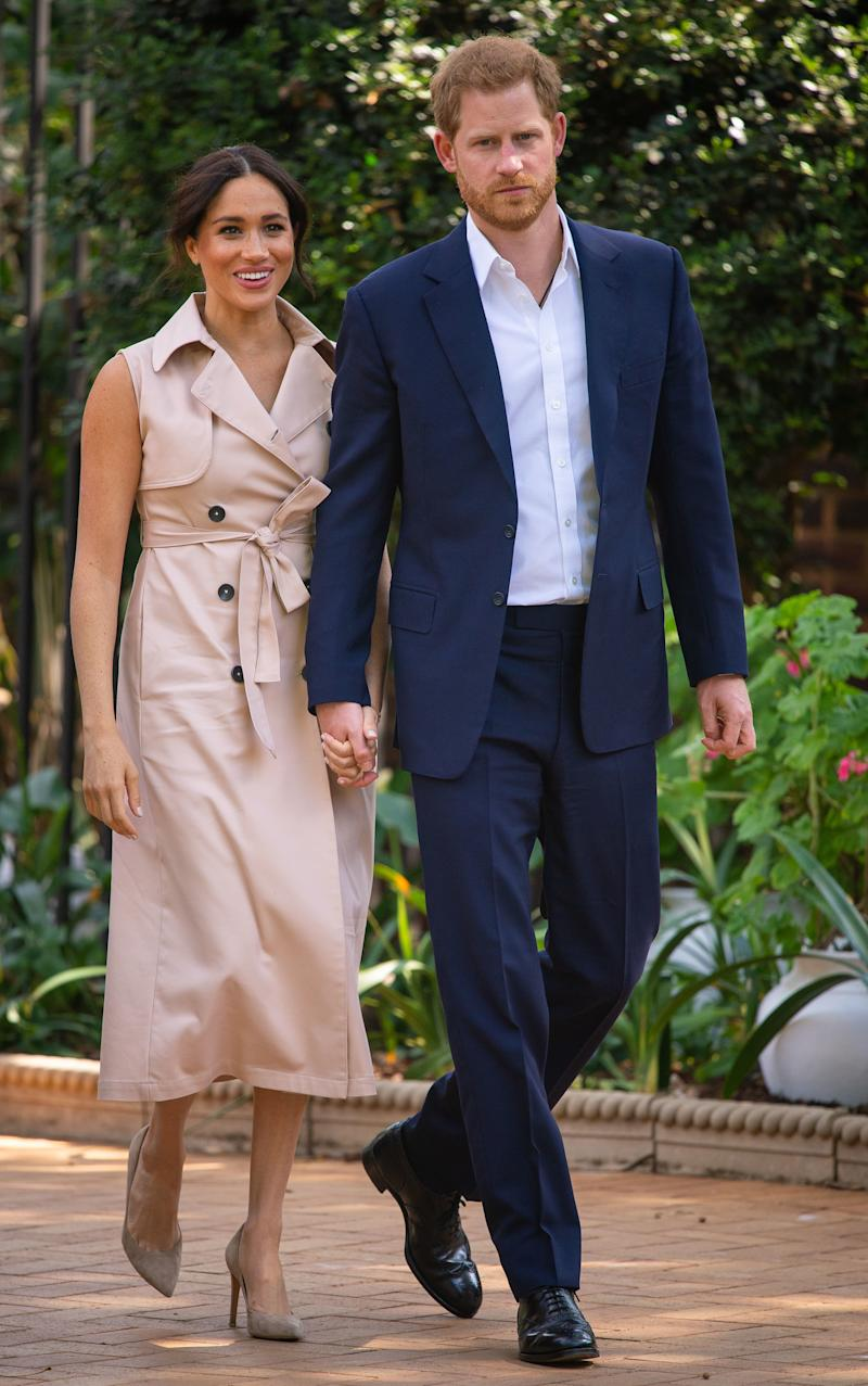 Prince Harry and Meghan Markle on royal tour of South Africa