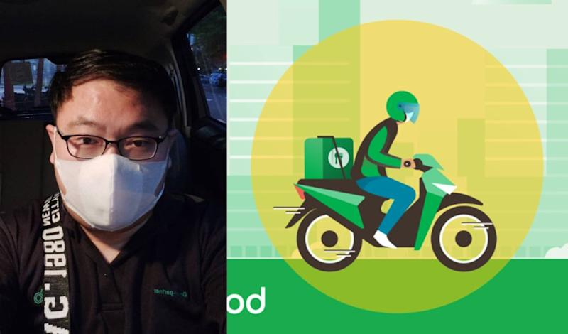 Yee Kim Chang was one of tens of thousands of Grab drivers who switched to doing delivery in light of the nationwide shutdown. — Picture courtesy of Yee Kim Chang and from Facebook/GrabMY