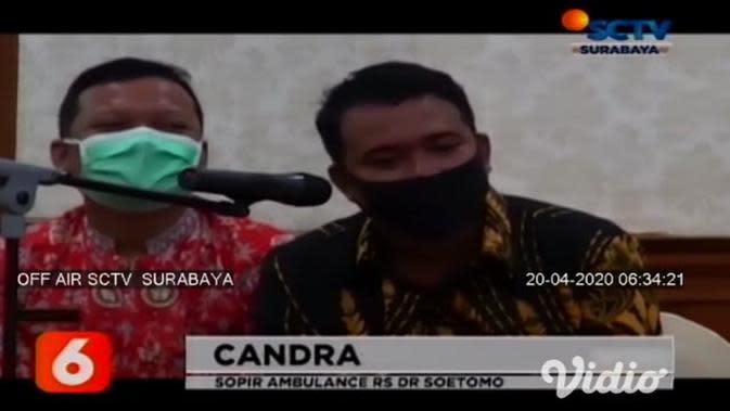 VIDEO: Gubernur Khofifah Berikan Apresiasi Kepada Sopir Ambulans Pengantar Jenazah